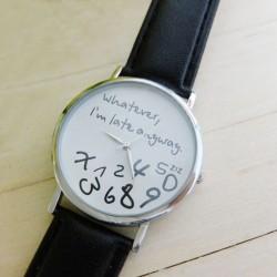 Creatieve horloge zwart
