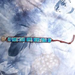 Natuurstenen armband blau