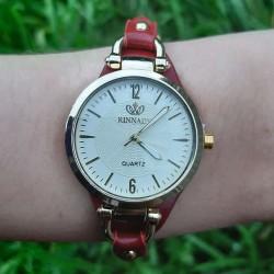 Horloge met rode band